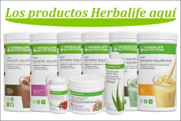packs de productos herbalife