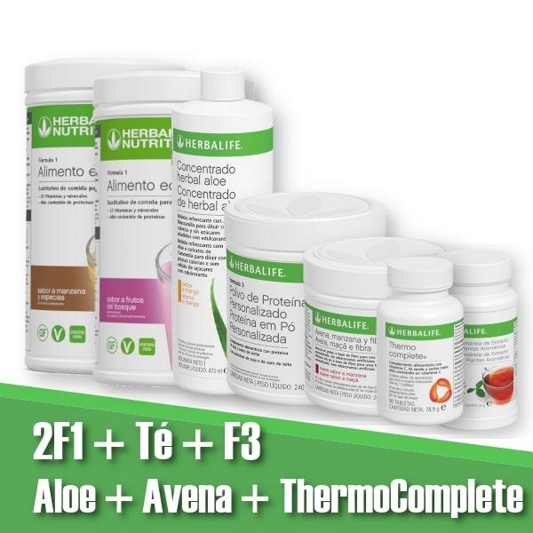 2 F1 | F3 | Té | Aloe vera | Avena | ThermoComplete