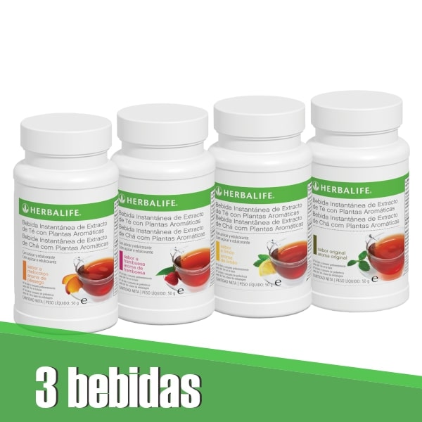 Pack 3 bebidas de té Herbalife